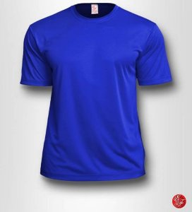 Camiseta Infantil Azul Royal - 100% Poliéster