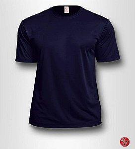 Camiseta Infantil Azul Marinho - 100% Poliéster