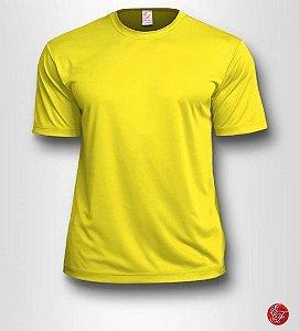 Camiseta Infantil Amarelo Canário - 100% Poliéster