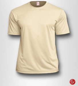Camiseta Infantil Marfim - 100% Poliéster