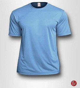 Camiseta Infantil Azul Claro - 100% Poliéster