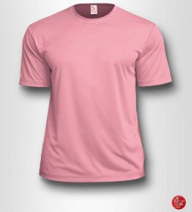 Camiseta Infantil Rosa Claro - 100% Poliéster