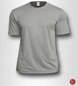 Camiseta Infantil Cinza Claro - 100% Poliéster