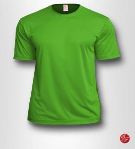 Camiseta Infantil Verde Limão - 100% Poliéster