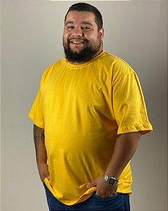 Camiseta Amarelo Ouro, Extra Grande, 100% Algodão, Fio 30.1 Penteado