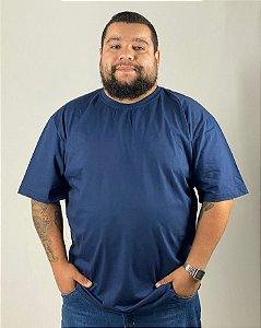 Camiseta Azul Marinho, Extra Grande, 100% Algodão, Fio 30.1 Penteado