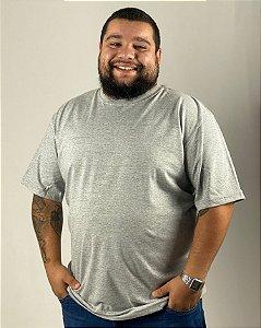 Camiseta Cinza Mescla, Extra Grande, 100% Algodão, Fio 30.1 Penteado