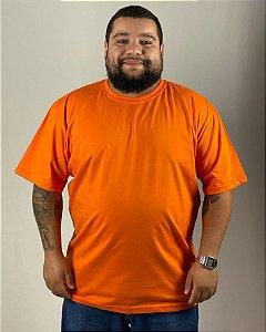 Camiseta Laranja, Extra Grande, 100% Algodão, Fio 30.1 Penteado