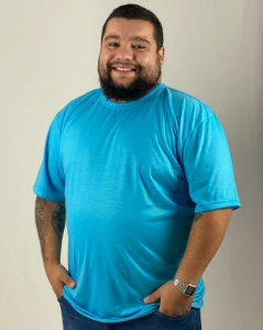 Camiseta Azul Turquesa, Extra Grande, 100% Poliéster