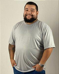Camiseta Cinza Claro, Extra Grande, 100% Poliéster