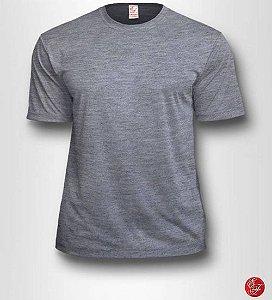 Camiseta Cinza Mescla, Extra Grande, 100% Poliéster