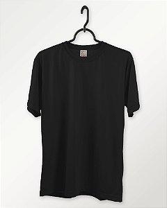 Camiseta Preta, Extra Grande, 100% Poliéster