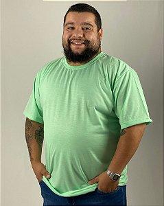 Camiseta Verde Água, Extra Grande, 100% Poliéster