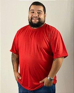 Camiseta Vermelha, Extra Grande, 100% Poliéster