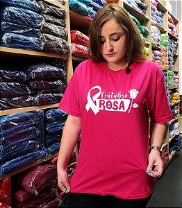 Camiseta Outubro Rosa -  100% Algodão
