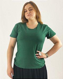 Baby Look Verde Musgo, 100% Algodão, Fio 30.1 Penteado