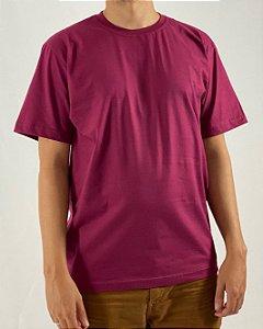 Camiseta Vinho, 100% Algodão, Fio 30.1 Penteado