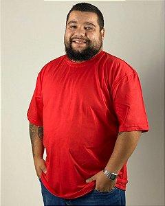 Camiseta Vermelho, Extra Grande, 100% Algodão, Fio 30.1 Penteado