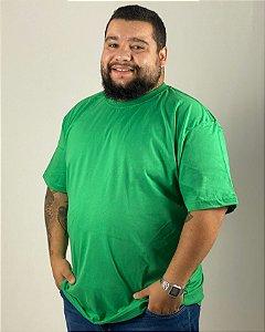 Camiseta Verde Bandeira, Extra Grande, 100% Algodão, Fio 30.1 Penteado
