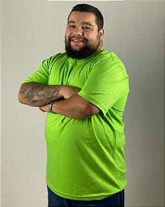 Camiseta Verde Limão, Extra Grande, 100% Algodão, Fio 30.1 Penteado