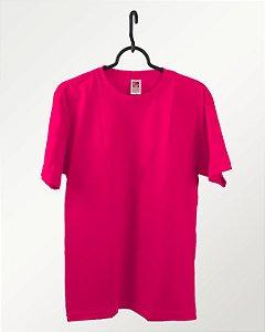 Camiseta Rosa Pink, Extra Grande, 100% Algodão, Fio 30.1 Penteado