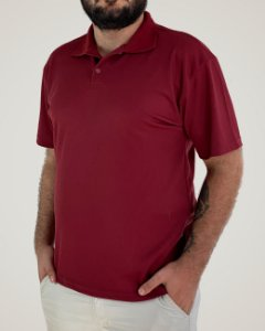 Camiseta Polo Bordo, 100% Poliviscose