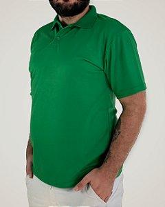 Camiseta Polo Verde Bandeira, 100% Poliviscose