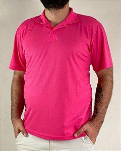 Camiseta Polo Rosa Pink, Extra Grande, 100% Poliviscose