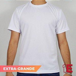 Camiseta Branca, Extra Grande, Dry Fit Liso