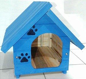 Casinha De Cachorro Pequena (Azul)