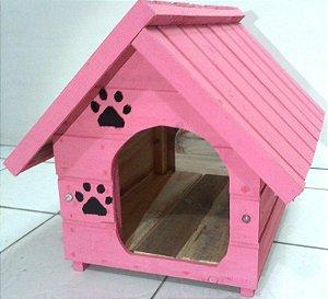 Casinha De Cachorro Pequena (Rosa)