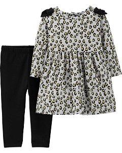 D6- Conjunto 2 peças - blusinha e legging-Carter's