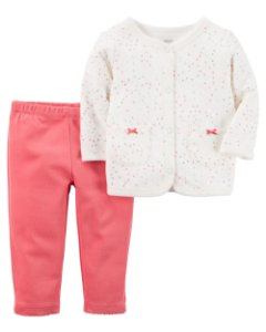 E1- Conjunto 2 peças - Blusa e Calça-Carter's