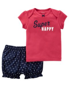 D9- Conjunto 2 peças - camiseta e shorts-Carter's