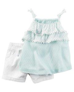 D9- Conjunto 2 peças - Blusinha e shorts-Carter's