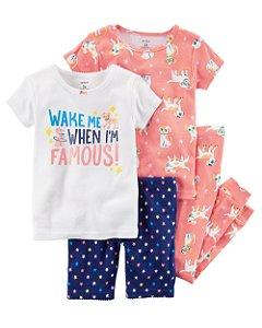 F1- Pijama 4 peças conjunto - Carter's
