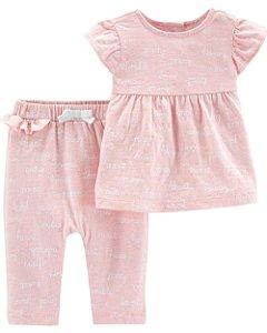 D6- Conjunto 2 peças - blusinha e calça-Carter's