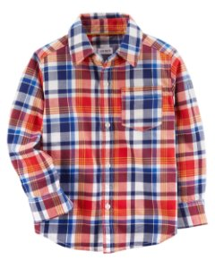 G4- Camisa manga longa Xadrez-Carter's