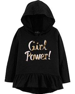 G1- Túnica GirlPower Blusinha com capuz-OshKosh