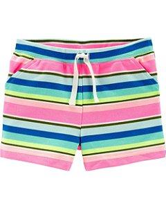 F9- Shorts de algodão com bolso na frente carters