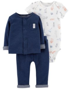 D5- Conjunto 3 peças - blusa, body e calça