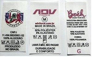 Etiqueta de Nylon Resinado Composição