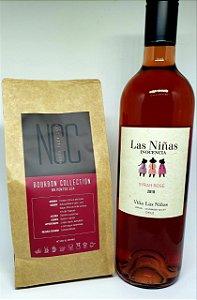 Harmonização Bourbon Collection NCC 250gr. com Vinho Syrah Rose Orgânico da Vinícola Chilena Las Niñas