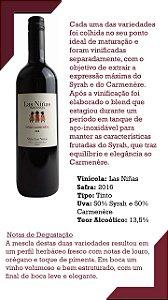 Vinho Tinto Orgânico Las Niñas 50% Carmenére - 50% Syrah - Safra 2016