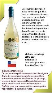 Vinho Loma Larga Sauvignon Blanc - Safra 2017