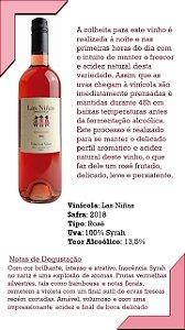 Vinho Rose Las Niñas Orgânico 100% Syrah - Safra 2016