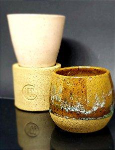 Conjunto coleção xícara cone + xícara  bowl