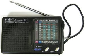 RÁDIO  FM.TV/MW/SW1-7 MULTI BAND RECEIVER - KK-9  - J I N F E N G-   AM /FM -A  PILHA-