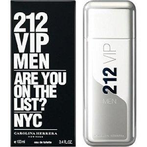 PERFUMES IMPORTADOS   ''212 VIP MEN'',  100 ML, MASC.  CAROLINA HERRERA, EAU DE TOILETTE .