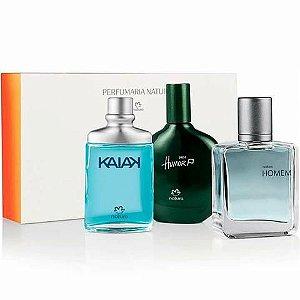 PERFUMES: KIT COM 3 ( KAIAK ,  HUMOR PAZ e HOMEM) 25 ml  CADA.  ORIGINAL, LACRADO DE FÁBRICA.
